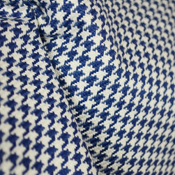 Houndstooth Navy Blue Fabric By The Yard - Houndstooth Navy Fabric by Roth and Tompkins. 100% cotton this fabric is great for upholstery, bedding. pillows and treatments.