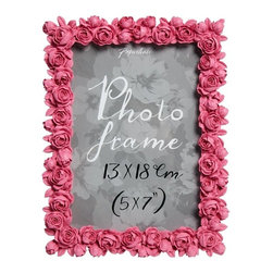 Paperchase Rose Frame - My favorite gifts are home decor. This rose-bordered photo frame would make a pretty personalized gift: Just pop in a photo of you and the person you are gifting it to, and they're sure to cherish it for years to come.