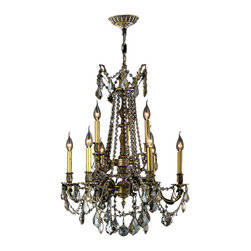 Worldwide Lighting - Windsor 9 Light Antique Bronze Golden Teak Crystal Chandelier Cast Brass SALE - This stunning 9-light Cast Brass Chandelier only uses the best quality material and workmanship ensuring a beautiful heirloom quality piece. Featuring a solid cast brass frame in antique bronze finish and all over golden teak (translucent champagne color) crystal embellishments made of finely cut premium grade 30% full lead clear crystals, this chandelier will give any room sparkle and glamour. Worldwide Lighting Corporation is a privately owned manufacturer of high quality crystal chandeliers, pendants, surface mounts, sconces and custom decorative lighting products for the residential, hospitality and commercial building markets. Our high quality crystals meet all standards of perfection, possessing lead oxide of 30% that is above industry standards and can be seen in prestigious homes, hotels, restaurants, casinos, and churches across the country. Our mission is to enhance your lighting needs with exceptional quality fixtures at a reasonable price.