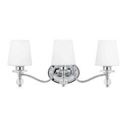 Quoizel Lighting - Quoizel HS8603C Hollister Polished Chrome 3 Light Vanity - 3, 100W A19 Medium
