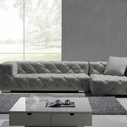 Exclusive Tufted 100% Italian Leather Sectional - Features: