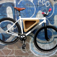 Contemporary Storage And Organization Wood Triangle Bike Rack