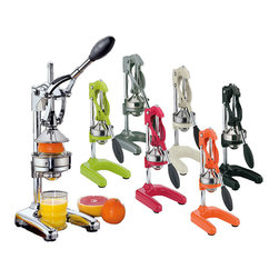 Frieling - Cilio Orange Press, Orange - This commercial grade press makes juicing oranges, grapefruits, limes and lemons fast and easy! Put a glass under the press, place a fruit half on the raised cone, press the handle down and watch fresh juice flow into the glass