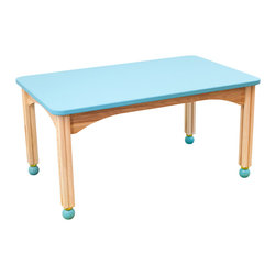 CedarWorks - Playroom Table - Made from the same high quality materials and craftsmanship as our Rhapsody playsets, our table is just the right height for kids and the table top is available in natural finish or chalkboard finish in blue or black. Assembly is required