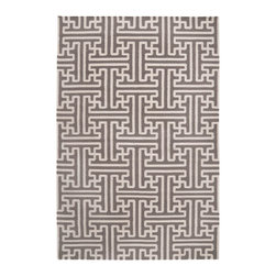 Surya - Surya Smithsonian Archive Taupe Beige Hand Woven Wool Rug - The Surya Smithsonian Archive area rug updates a classic cross hatch pattern for today's interior. Bold and geometric, this modern floor covering's maze-like geometric pattern catches the eye with its graphic statement. 100% hand woven wool. Taupe beige and winter white. Flat pile. Available in several sizes. Rug pad recommended.