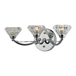 Elk Lighting - Elk Lighting Hawthorne Collection 3 Light Bath In Polished Chrome - 46147/3 - 3 Light Bath In Polished Chrome - 46147/3 in the Hawthorne collection by Elk Lighting The Hawthorne collection displays clean lines with a touch of organic inspiration.  A Polished Chrome frame combines with thick crystal glass to create a bold artistic expression.   Bathbar (1)
