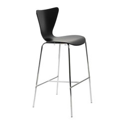 Eurostyle - Eurostyle Tendy-B Bar Chair in Black & Chrome [Set of 2] - Bar Chair in Black & Chrome belongs to Tendy Collection by Eurostyle Certain designs cross the threshold from interesting and glamorous all the way over to nothing less than a design icon. You're looking at it. And you could be sitting in it! Bar Chair (2)