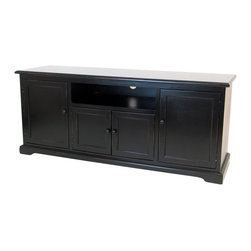 "Wayborn - Wayborn Birchwood 58"" TV Stand Console in Black - Wayborn - TV Stands - 5709B - Enhance your home decor with this TV console that not only will increase your enjoyment in watching TV most importantly as with any other home decor it will decorate your home greatly."