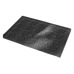 Bungalow Flooring - 24 in. L x 36 in. W Charcoal Waterguard Tropical Fish Mat - Made to order. Fun fish design traps dirt, resists fading, rot and mildew. Indoor and outdoor use. 24 in. L x 36 in. W x 0.5 in. H