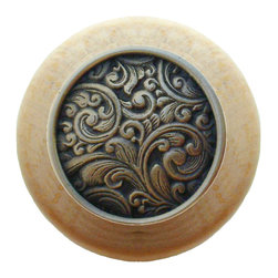 Classic Collection - Saddleworth Wood Knob in Solid Bronze/Natural