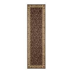 """Nourison - Nourison Somerset ST02 2'3"""" x 8' Brown Area Rug 04786 - Leaves, vines and botanicals gracefully entwine in this sophisticated study of rich chocolate brown and camel with delicate olive accents. This plush pile rug is furnished with a fabulous sheen for exceptional tone and detail."""