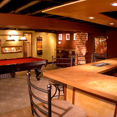 Traditional Basement by Spring Creek Design