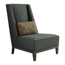 Younger - Hannah Chair - Find yourself craving a lounging experience that is oh-so polished? Try this chic armless chair on for size. With clean modern lines and tasteful upholstery, this classy chair is perfect for your sitting room.