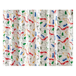 Gedy - 94 Inch Multicolored Shower Curtain with Rings Included - Made in pvc and finished in multicolor.