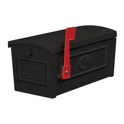 Salsbury Industries - Black Post Style Townhouse Mailbox - The Salsbury 4550 Post Style Townhouse Mailboxes are USPS approved and feature a durable powder-coated finish available in four contemporary colors and are accessed from the top.
