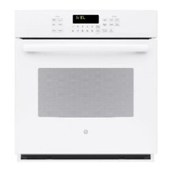 "GE Profile - PK7000DFWW 27"" SC Convection Single Oven  with Hidden Bake Interior  Designer St - This convection single oven is extremely easy to clean with the steam clean option"