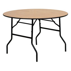 Flash Furniture - Flash Furniture 48 Inch Round Wood Folding Banquet Table - This wood folding table is very useful since it can be instantly stored and is easy to carry at the same time. This durable table was built for constant use in hotels, banquet rooms, training rooms and seminar settings. Not only is this table durable enough for the everyday rigors of commercial use this table can be used in the home when it comes to setting up your own personal party plans. [YT-WRFT48-TBL-GG]