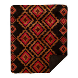 Throw Blanket Denali Red Diamond Chocolate - Denali micro plush throws are considered the Cadillac of throws due to their rich colors and soft feel. These throws are softer and warmer than fleece.