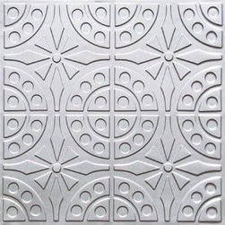 "Decorative Ceiling Tiles - Princess Phone - Faux Tin Ceiling Tile - Glue up - 24""x24"" - #110 - Find copper, tin, aluminum and more styles of real metal ceiling tiles at affordable prices . We carry a huge selection and are always adding new style to our inventory."