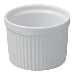 Revol - Revol Porcelain Grands Classiques 8  oz. Individual Souffle White - Whether or not you know what to put inside a ramekin doesn't really matter, it's the ramekin that counts. With smooth sides and an individual portion size you can put anything from a single-size soufflé to a display of mixed nuts for poker night and it will present with baller status.
