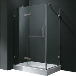 Vigo - VIGO VG6011BNCL36 Shower - Update your bathroom with this uniquely stylish and totally frameless VIGO rectangular-shaped shower enclosure