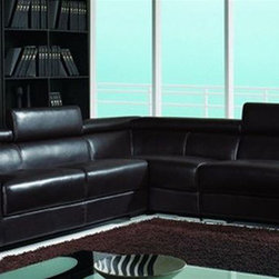Advanced Adjustable Leather Sectional with Chaise - Features: