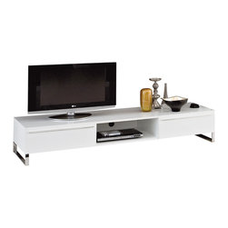 Domitalia - Life-CG180 Tv Cabinet in White Lacquer Finish by Domitalia, Made in Italy - Modern Style Tv Stand