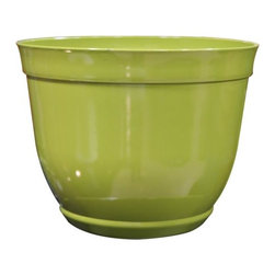 Alpine Fountains - Medium 12 in. Bowl Planter in Light Cream - Made of Plastic. 1 Year Limited Warranty. Assembly Required. Overall Dimensions: 12 in. L x 12 in. W x 10 in. H (1.32 lbs)These bowl planters are perfect for patios and decks.  Available in a variety of sizes and colors they can meet any need, or taste and are very durable.