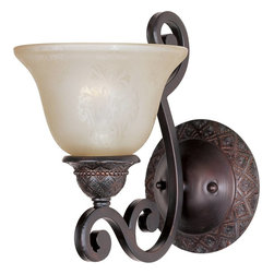 Maxim Lighting - Maxim Lighting Symphony Wall Sconce in Oil Rubbed Bronze - Shown in picture: Symphony 1 Lt Wall with Screen Amber Finish Glass in Oil Rubbed Bronze Finish.