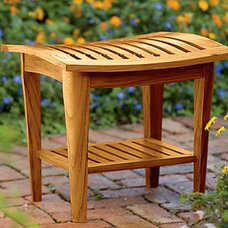 Tropical Shower Benches & Seats by Gardener's Supply Company