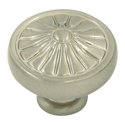 Stone Mill Hardware - Stone Mill Hardware Satin Nickel Darlington Cabinet Knob - Stone Mill Hardware - Satin Nickel Darlington Cabinet Knob