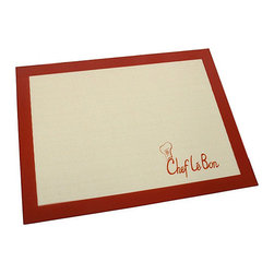Chef Le Bon - Mesh Baking Mat - This unique mat acts just like a sheet for baking cookies and other delicious treats for friends and family, and can be reused up to 2,000 times before wearing out.   16'' W x 12'' H Silicone / fiberglass Oven-safe Hand wash Imported