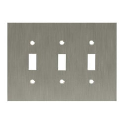 Liberty Hardware - Liberty Hardware 64935 Concave WP Collection 6.78 Inch Switch Plate - A simple change can make a huge impact on the look and feel of any room. Change out your old wall plates and give any room a brand new feel. Experience the look of a quality Liberty Hardware wall plate. Width - 6.78 Inch, Height - 4.9 Inch, Projection - 0.4 Inch, Finish - Satin Nickel, Weight - 0.67 Lbs.