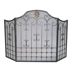 Cyan Design - Cyan Design Lighting 01349 Bronze Fire Screen - Cyan Design 01349 Bronze Fire Screen