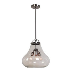 Access Lighting - Access Lighting 55547 in Antique Nickel with Clear Glass Lamped Chandelier - Vintage-style Lamped Chandelier