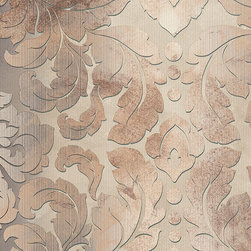 Large Scale Damask in Rust Brown - DS29735 - Collection:Stripes & Damasks 2