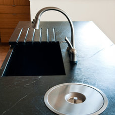 Contemporary Kitchen Countertops by Green Mountain Soapstone