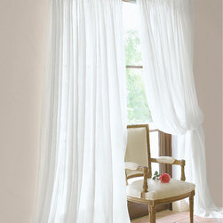 Lavishly Full Sheer Panel - The extra fabric is what makes them lavish, hand-smocking makes them fabulous! Yards and yards of pure white organdy beg to be draped over an open window to catch the breeze and billow.