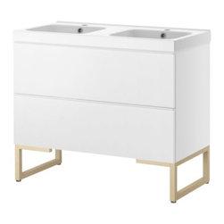 IKEA of Sweden/Magnus Elebäck/Eva Lilja Löwenhielm - GODMORGON/ODENSVIK Sink cabinet with 2 drawers - Sink cabinet with 2 drawers, white, birch