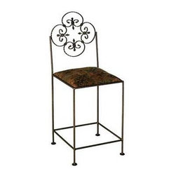 "Grace - Florentine Counter Stool - Features: -Painted according to your choice of metal finish .-Ships fully assembled .-Dimensions: 16"" W x 19"" D x 42"" H .-Suited for Residential use only. About Grace Collection: Grace Manufacturing is a metal and wrought iron furniture manufacturing company located in Rome, GA. The company has been in business for 25 years and continues to employ skilled artisans and craftsmen. In addition to their state of the art manufacturing equipment they still assemble and finish many products by hand. Many items in the Grace Collection are fully hand made or hand painted. With products ranging from barstools, counter stools, and dinettes to wrought iron beds, hanging potracks, bakers racks and more, Graces line meets all professional and home needs. By implementing unique styles and ideas to traditional products, Grace has created an exceptional balance between creativity and practicality. Their design styles range somewhere between whimsical, neo classic and traditional, thus creating a truly astonishing decor for any inside space."