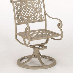 Woodard Landgrave - Palermo 22 in. Swivel Rocker (Cherry) - Finish: Cherry. Without cushion. Made from cast aluminum. Seat height: 18 in.. 22 in. W x 24 in. D x 35 in. H (39 lbs.). All products are made to order. Orders cannot be cancelled after 5 calendar days. If order is cancelled after 5 calendar days, a 50% restocking fee will be applied.