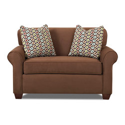 Savvy - Calgary Chair Sleeper Sofa, Microsuede Chocolate, Chair Sleeper, Gel Memory Foam - Calgary Chair Sleeper Sofa in Microsuede Sand