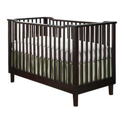 Stork Craft - Stork Craft Santino 3-in-1 Fixed Side Convertible Crib in Espresso - Stork Craft - Cribs - 04567219 - With its rounded legs and contoured rails the Stork Craft Santino 3 in 1 crib has just the right modern touch to grow with your baby in style!