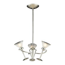 Elk Lighting - Elk Lighting Martini Glass Modern / Contemporary Chandelier X-3/5563 - Personalize the decor interiors in a room with this fun and cheerful chandelier. The Elk Lighting Martini glass contemporary chandelier is a unique fixture with a whimsical appeal. Remarkably crafted Martini glasses with acid-etched glass are displayed in a graceful metal frame with silver leaf finish.