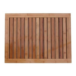 Oceanstar Bamboo Floor and Shower Mat - Create a spa-like bathroom with this ecofriendly mat from the Oceanstar Design Collection. I love that it's made from 100 percent bamboo.