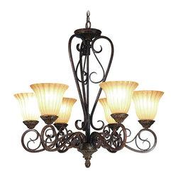 Woodbridge Lighting - Woodbridge Lighting Avondale 6-light Rustic Iron Chandelier - Chain length: 6 feet Wire length: 10 feet Setting: Indoor