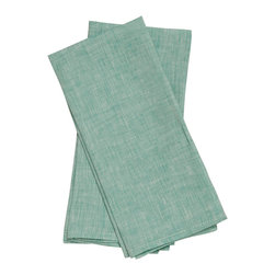 Birdkage - Mint Tea Towels - These tea towels add cool, fresh color in your kitchen, on a breakfast tray or in a place setting as oversize napkins. The textured light green linen features contrasting topstitching for detail and long-lasting appeal. And they're sold in sets of two so you can pick a pack for yourself or share with your favorite host/hostess.