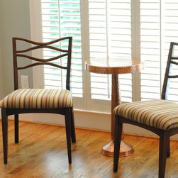 Mid Century Modern Chairs Refinished and Recovered -