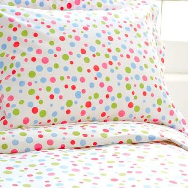 Polka Dot Multi King Duvet Cover - Slip some crisp white sheets under this duvet cover to balance out its lively design.