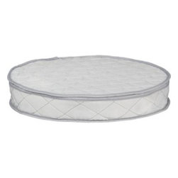 Round Platter Storage Case - Cushioned and quilted, this storage container with zipper closure helps protect round platters and chargers in storage or transport.